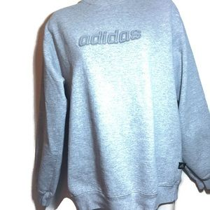 Adidas crew sweatshirt small gray athleisure